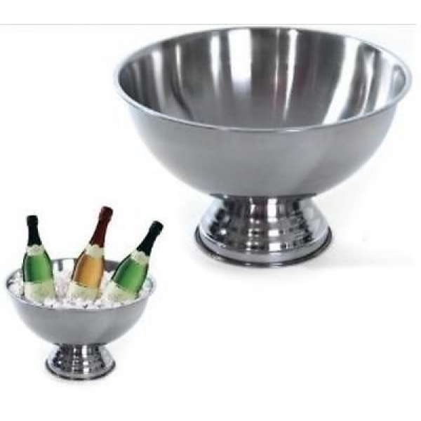 Sektkühler Edelstahl Champagner-Schale Sektschale Flaschen Kühler Obstschale