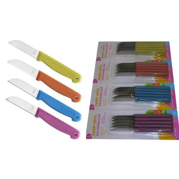 20x scharfe Küchenmesser Schälmesser Obstmesser Messer rostfrei Kunststoffgriff