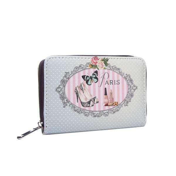 Vintage Damen Geldbörse Paris Portmonee Portemonnaie Geldbeutel Brieftasche