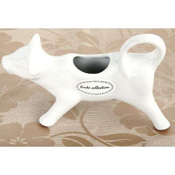 Milchkännchen aus Porzellan weiss Kuh 15cm Lindo Collection Sahne Kännchen Kanne