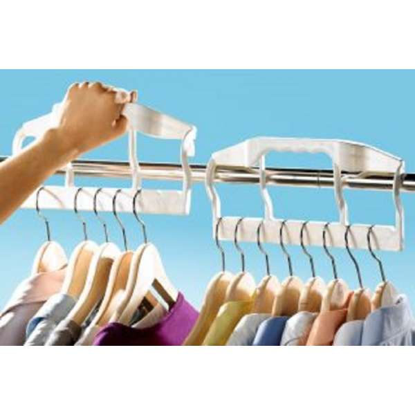 Raumsparbügel für 9 Kleiderbügel Butler Wäsche Buegel Ordnung Kunststoff