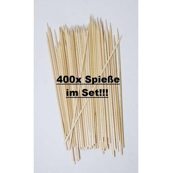 400x Schaschlikspieße Grillspieße Partypicker Fleisch Cocktail Spieße Holz 20cm