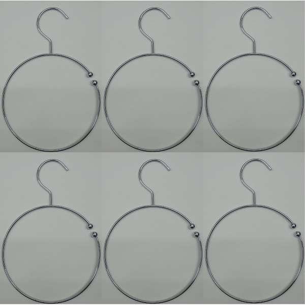 6x Gürtelringe Gürtelhalter Schalring Kravattenbügel Bügel Schalhalter silber