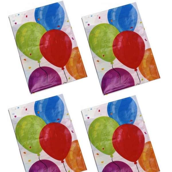 4x Party-Tischdecke Luftballons abwaschbar 130x180cm Kinder Geburtstag