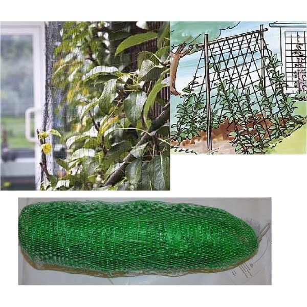Ranknetz 10 x 2 m Rankhilfe Stütznetz Pflanzennetz Gartennetz f. Kletterplanzen
