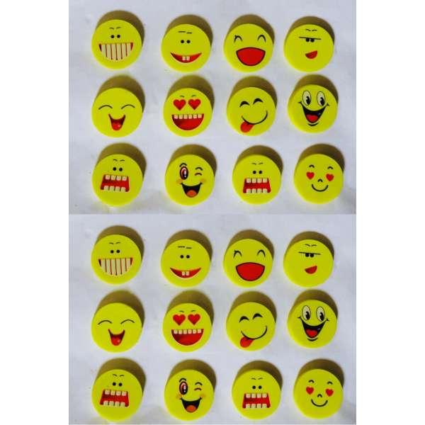 24x Smiley Radiergummi Radierer lustig Mitgebsel Kindergeburtstag Party Tombola
