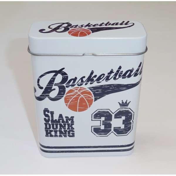 Zigarettenetui Zigarettenbox Box Behälter Metall für 24 Zigaretten Basketball