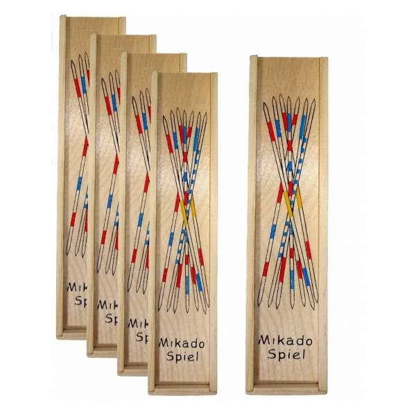 5x Gesellschaftsspiel Geduldspiel Kinder Mikado Spiel Mitgebsel Tombola 41tlg Holz