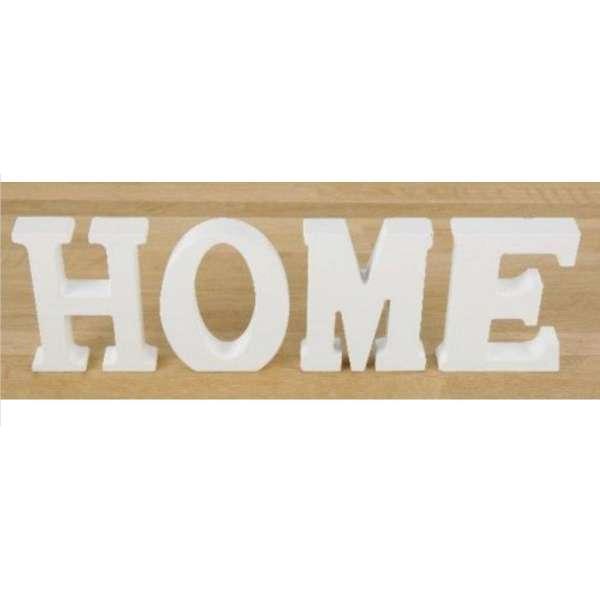 Schriftzug HOME weiß Holz Buchstaben Aufsteller Deko MDF 32 x 11 cm DEKO