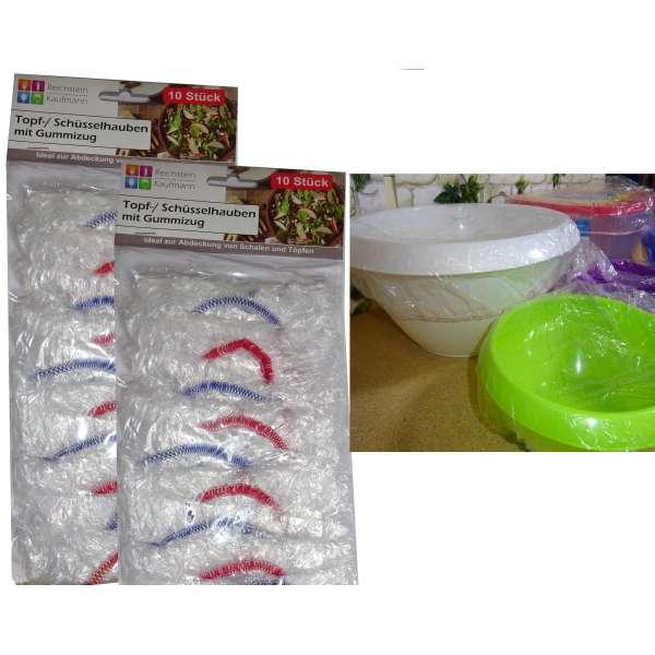 20er Set Topf- und Schüsselhauben Fliegenschutz Topfhauben Abdeckung mit Gummizug