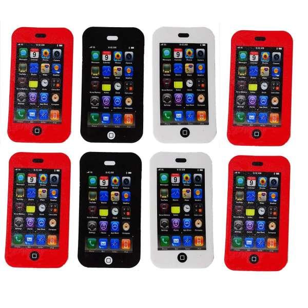8x Radiergummi Smartphone Handy Radierer Mitgebsel Kindergeburtstag Party Tombola