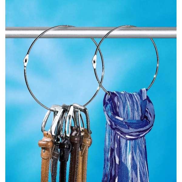 Gürtelringe 2er Set Gürtelhalter Schalring Kravattenbügel Bügel Schalhalter