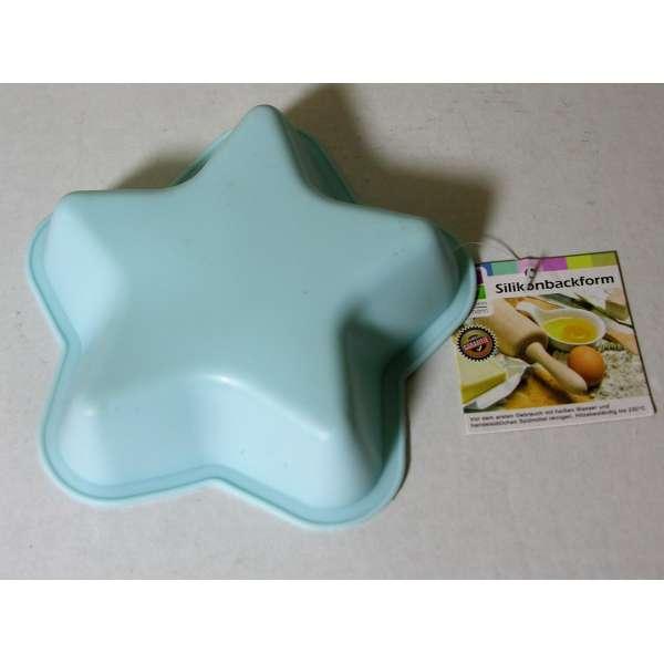 Kleine Silikon Backform Stern blau 13cm Kuchenform Cupcake Form Muffin Kinder Party