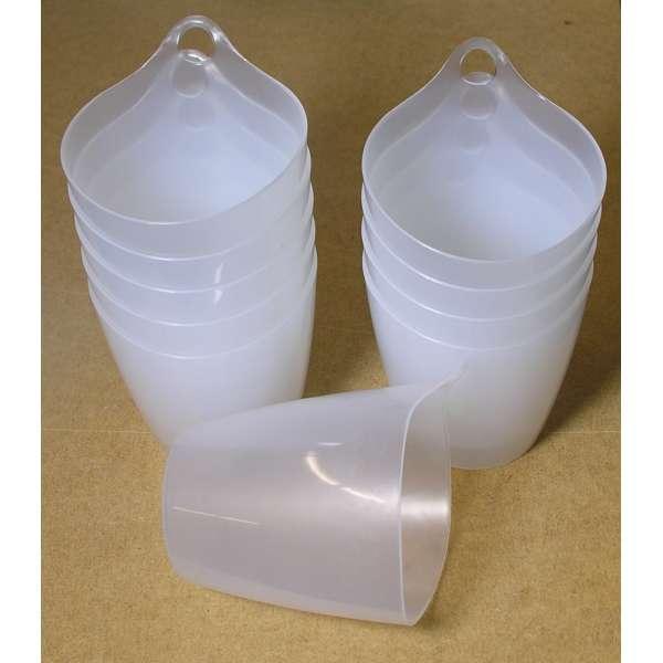 10x Hänge-Organizer Becher Eimer Topf Behälter mit Öse aus Kunststoff im Set