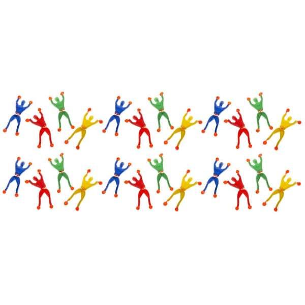 24er Set Fensterkletterer Ninja 4 Farben ca. 9cm Mitgebsel Tombola Geburtstag Kindergeburtstag