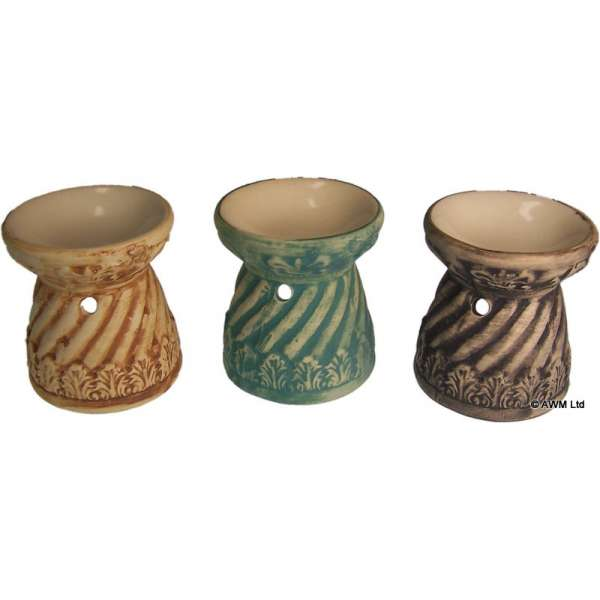 3er Set Duftlampen Terracotta braun Aromalampen Duftöl Lampen 8x7cm