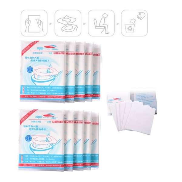 100er Pack Einweg Toilettensitz Auflage Abdeckung WC Cover Schutz Papier 36x41cm
