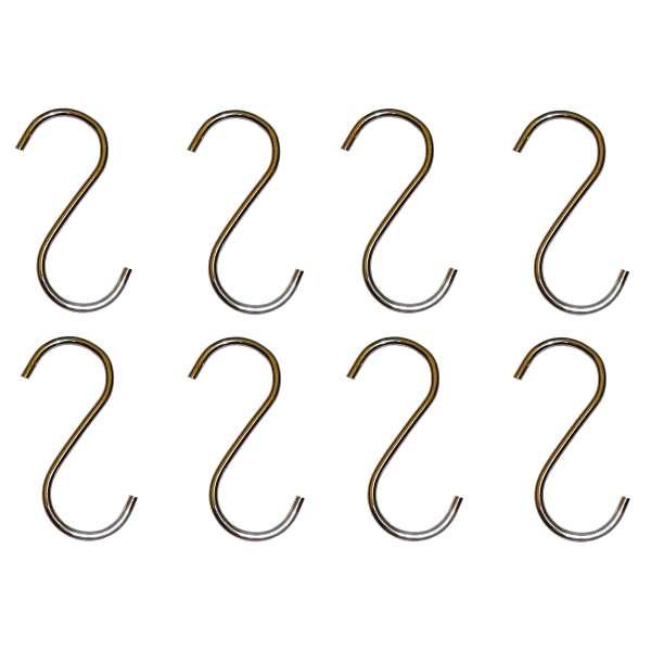 8x S-Haken Metall Küchenhaken Universalhaken Küchen Halter Bad Haken silber