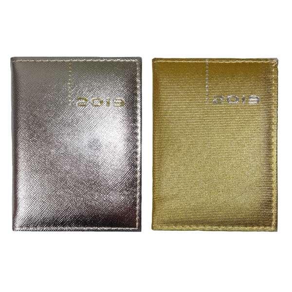 Taschenkalender Kalender 2019 DELUXE Organizer Timer Business Glitzer Gold Silber A7
