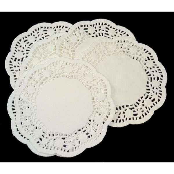 100 Tassenuntersetzer Tortenspitze Untersetzer Platzset Tassen Papier Weiß Rund