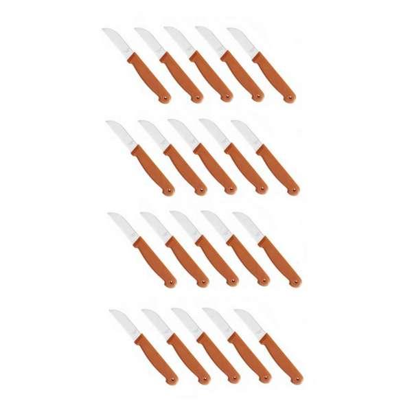 20x scharfe Küchenmesser Schälmesser Obstmesser Messer rostfrei Edelstahl Terracotta
