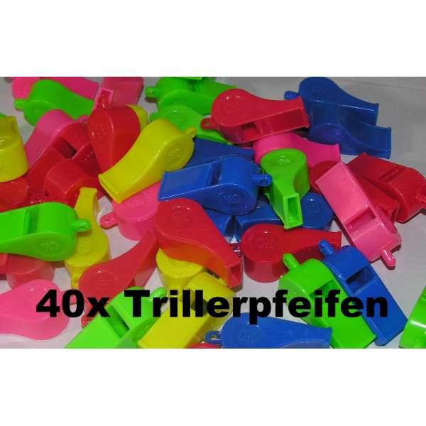 40x Kinder Trillerpfeife Signalpfeife Fussball Mitgebsel Tombola Party Geburtstag