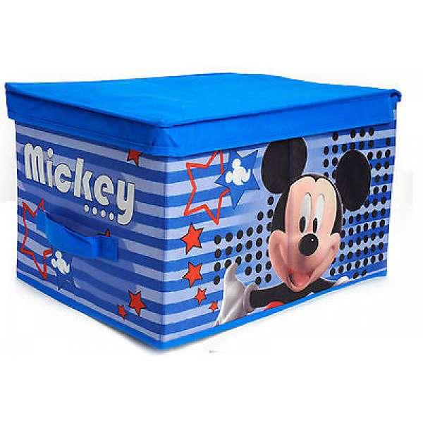 Disney Mickey Micky Maus Aufbewahrungs Box abwaschbar robust Spielzeugkiste