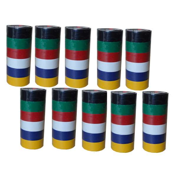 60 Rollen buntes Isolierband im Set isolieren Isoband Klebeband 19mm x 2,5m PVC