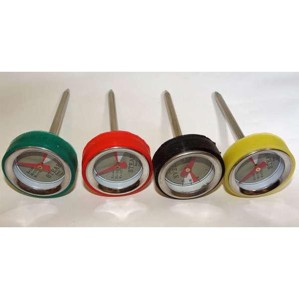 4er Set Mini-Thermometer für Steaks Braten Fleisch Grillthermometer BBQ Smoker