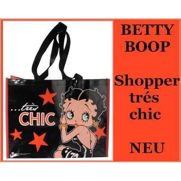 Shopper Fashion Bag Tasche Betty Boop tres chic Retro-Look
