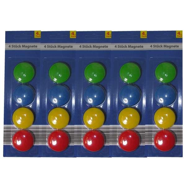 20x Kühlschrank Magnete Memomagnet Memohalter Zettelhalter Büro bunt rund 37mm