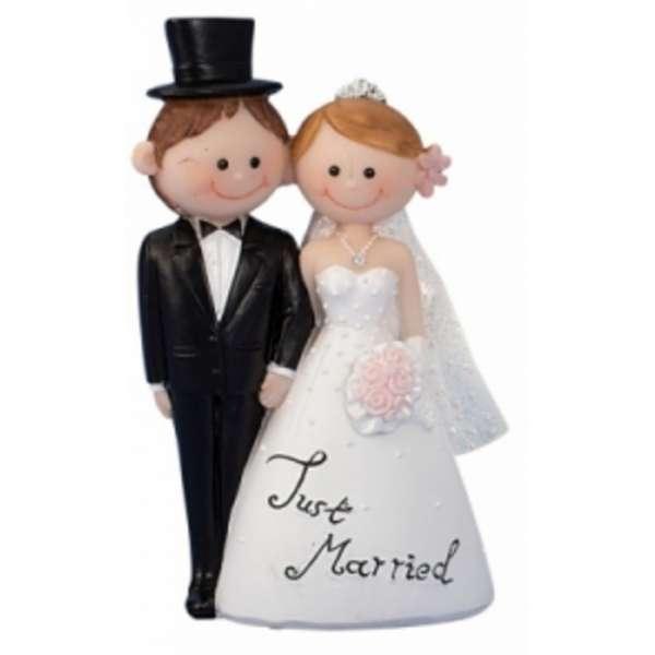 Lustiges Hochzeitspaar Brautpaar Just married Nr.1Tisch-Deko Torten-Aufsatz Deko
