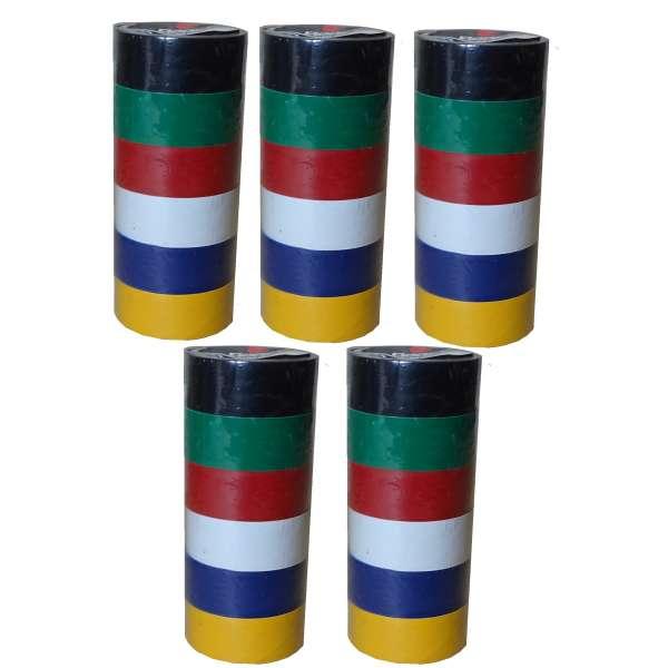 30 Rollen buntes Isolierband im Set isolieren Isoband Klebeband 19mm x 2,5m PVC