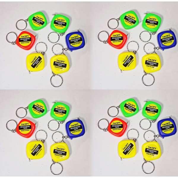 24x Mini Maßband 1m Messband Bandmaß Rollmaßband Schluesselanhänger Mitgebsel