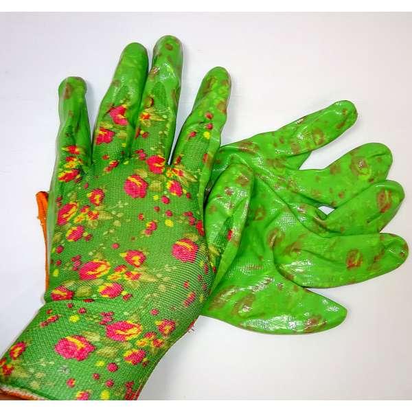 1 Paar Gartenhandschuhe Arbeitshandschuhe Gartenarbeit Damen Handschuhe Grün
