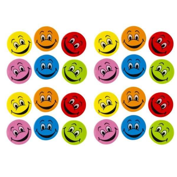 24er Set Smiley Happy Radiergummi Radierer Mitgebsel Kindergeburtstag Party Tombola
