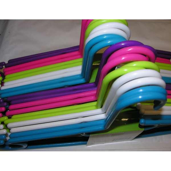20x Kleiderbügel aus Kunststoff bunt 40cm Bügel Hosenbügel Wäschebügel