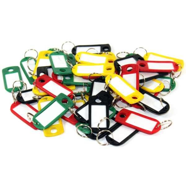 80x Schlüsselschild Schlüsselanhänger Etikett Schilder Kofferanhänger
