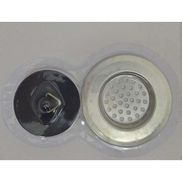 Abflusssieb 65mm mit Stöpsel 45mm Haarsieb Spülbecken Bad Ablauf Abfluss Sieb