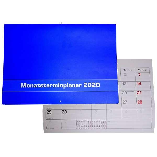 Monatsplaner 2020 Wand- oder Tischkalender 29,7x21cm Kalender Büro Termin Planer