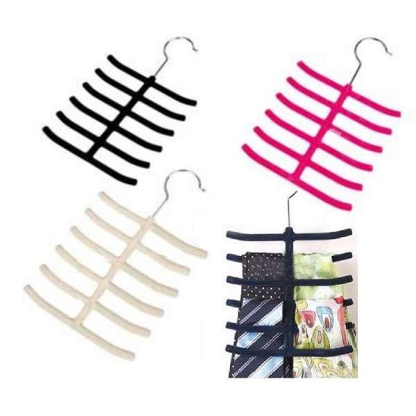 Krawattenhalter Schalhalter Schlipshalter 12 Krawatten Gürtel Halter Bügel