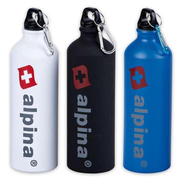 3er Set ALPINA Trinkflaschen Fahrrad Sport Aluminium 750ml Wasser Flaschen Camping