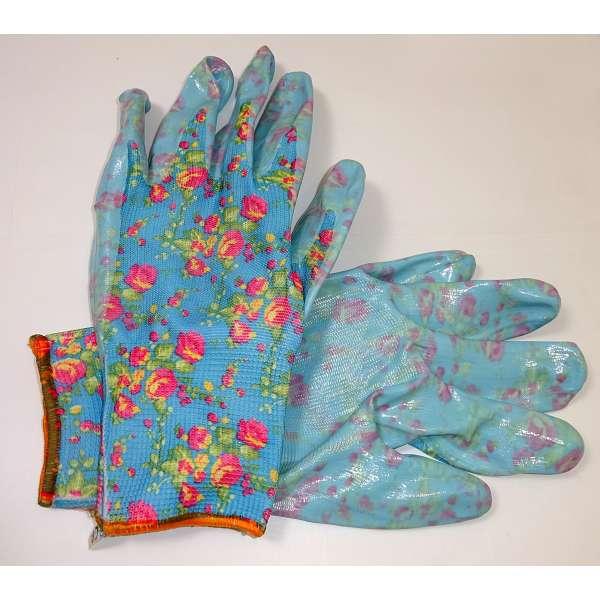1 Paar Gartenhandschuhe Arbeitshandschuhe Gartenarbeit Damen Handschuhe hell blau