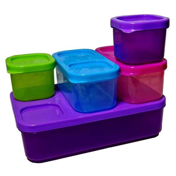 10tlg. Vorratsdosen Set Frischhaltedosen Aufbewahrung Box Dose mit Deckel Kunststoff