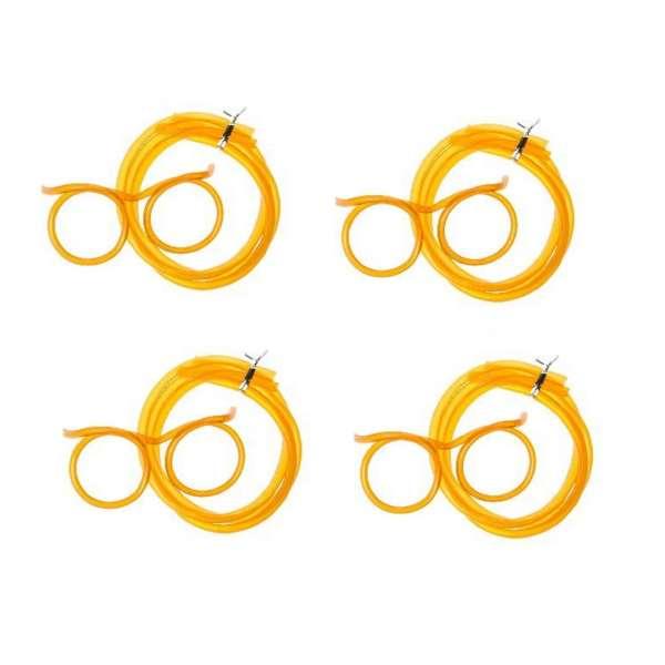 4x Trinkbrille Strohalm Brille Trinkschlauch Mitgebsel JGA Party Feier orange