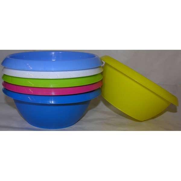 Küchen- Rühr- Salat- Schüssel Obst- Gemüse-Schale 4l rund Kunststoff 29cm
