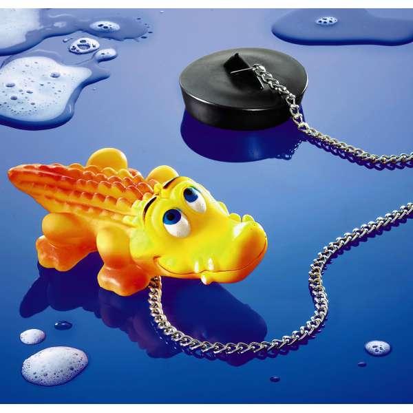 Badewannenstöpsel Krokodil Abfluss- bzw. Waschbecken-Stöpsel Wannenstöpsel