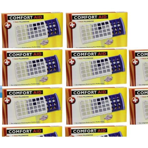 10 x 7-TAGE TABLETTENDOSE PILLENDOSE Pillenbox Tablettenbox Spender Medikamenten-Box