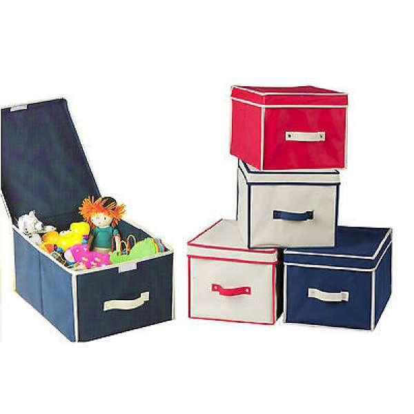 Aufbewahrungsbox Storage Box Spielzeug Kiste Stoffbox Deckel Klappbox Faltbox
