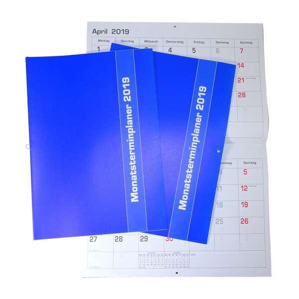 2x Monatsplaner 2019 Wand- oder Tischkalender 29,7x21cm Kalender Büro Termin Planer